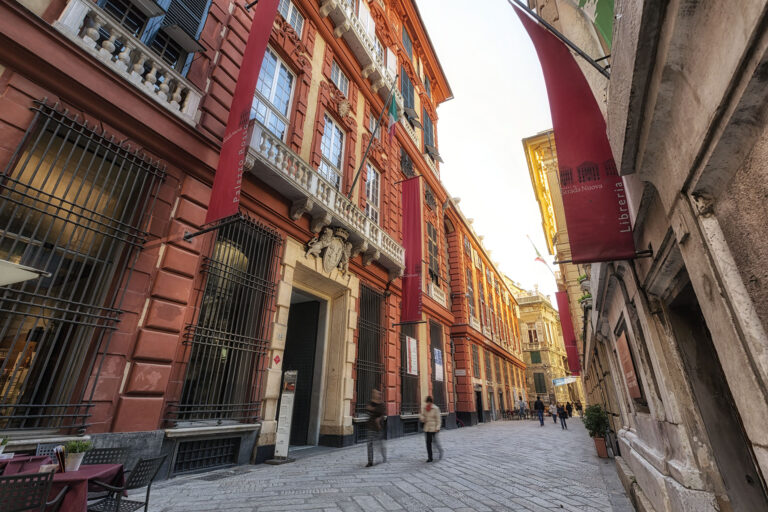 Palazzo Rosso, Strada Nuova e il Sistema dei Rolli